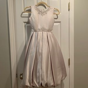 NWOT Joan Calabrese Champagne Flower Girl Dress